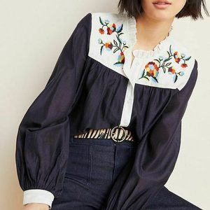 Anthropologie Brooke Embroidered Blouse NEW!